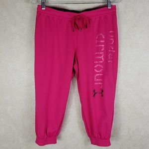 UA Small Pink Capri Athletic Sweatpants Cropped